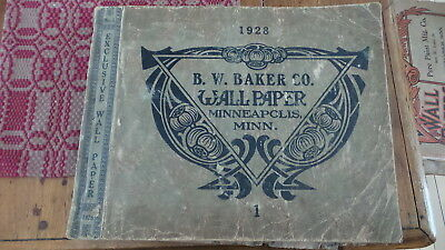 Circa 1928 SCRAPBOOK made from Old Wallpaper Book, Advertising,Articles,Pictures