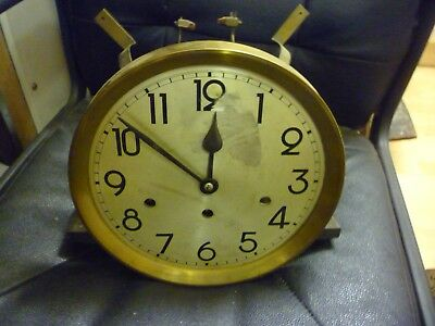 1930s Longcase Grandfather Clock Spring Driven Chimeing Movement+Dial(73)