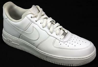 best cheap 6bd3a 3dc2d Mens Nike Air Force 1 Lo White Leather Classic Retro Sports Trainers Uk  Size 11