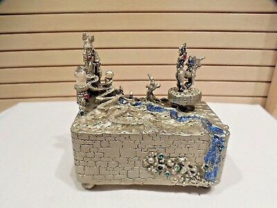 Vintage Comstock Creations Pewter Magical Music Box--#0701--1992