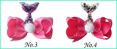 "10 BLESSING Good Girl Boutique 4.5""  ABC Hair Bow Clip Mermaids Accessories"