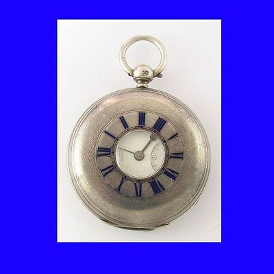 Mint Silver Fusee Dent of London Half-Hunter Watch 1885