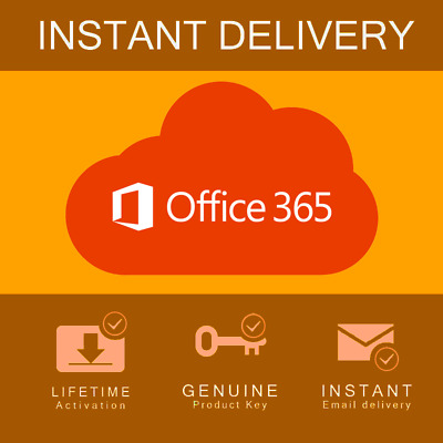Microsoft Office 365  Pro Plus 5 Devices | LIFETIME | GLOBAL Instant Delivery