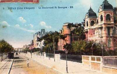 17  Cpa Animee 1937- Royan- Le Boulevard St Georges