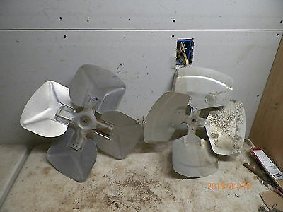 "2 Old Aluminum 17&1/2""-18"" dia. Fan Blades for Windmill Yard art Deco"