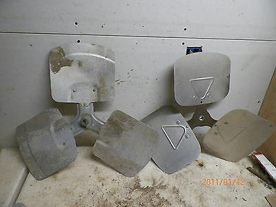"2 Old Aluminum 22-23"""" dia. Fan Blades for Windmill Yard art Deco"