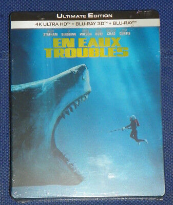 En eaux troubles Steelbook Blu-ray 4K Ultra HD, Blu-ray et Blu-ray 3D NEUF