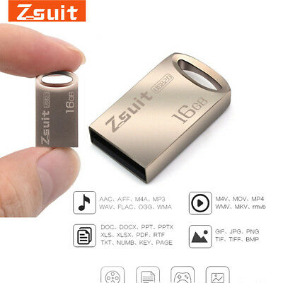 Genuine 16G 32G flash drive storage mini memory u stick metal usb 2.0 U-disk EC