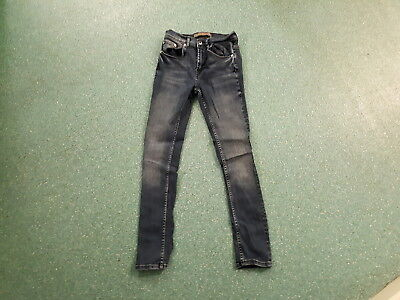 "Zara Man Skinny Jeans Waist 28"" Leg 28"" Faded Dark Blue Boys 12Yrs Jeans"