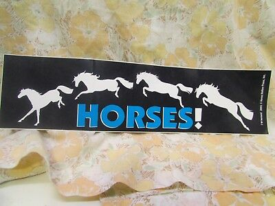 HORSES!  2001 Horse Hollow Press  Bumper Sticker Never Used Like New!