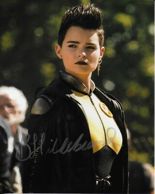 DEADPOOL personally signed 10x8 BRIANNA HILDEBRAND as Negasonic Teenage Warhead