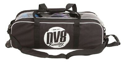 DV8 Tactic Triple 3 Ball Tote Bag with  Tow Wheels Black