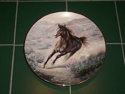 """ARTAFFECTS """" Mustang """" by Gregory Perillo 1989 Ltd Edition Collector Plate 4831B"""