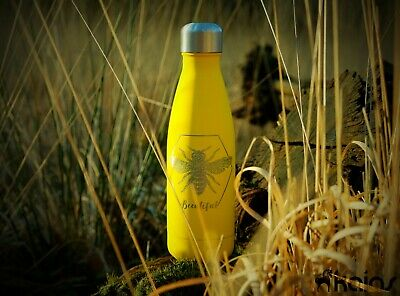 Personalised Water Bottle -  Engraved - Customized - Insulated - Metal - Thermos
