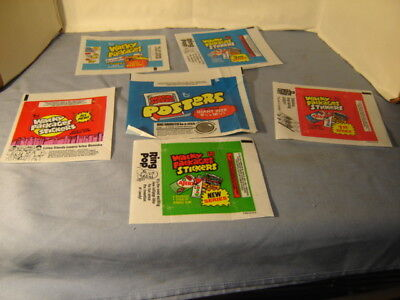 Vintage Lot Of 6 Wacky Packages Wrappers 1st & 3rd Series Posters Wrapper