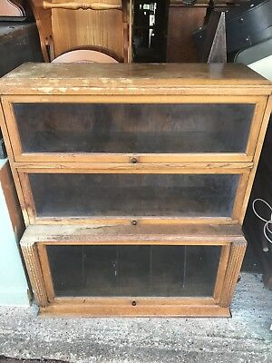 Ant Barristers Lawyers Bookcase waterfall front 3 glass door sections For Refurb