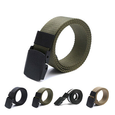 Nylon Canvas Breathable Military Tactical Men Waist Belt With Plastic Buckle CH
