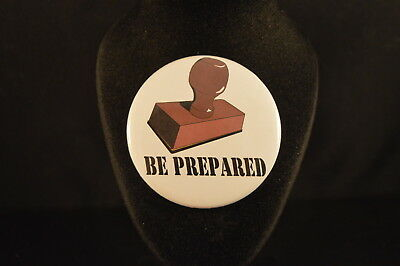 """""""BE PREPARED""""  Lot of  3 BUTTONS pins pinbacks 2 1/4""""  badges awards  Boy Scouts"""