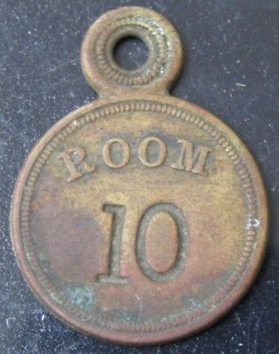 Vintage Room #10 Key Tag/ Fob