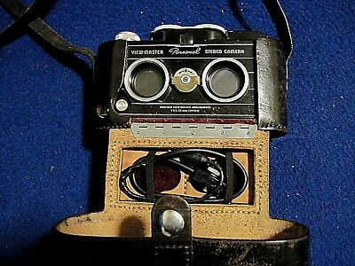 View-master Stereo Personal camera with case, flash cable - working!