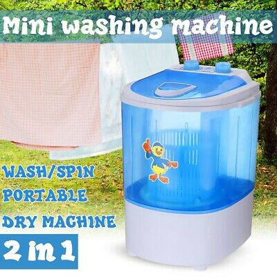 5KG Mini Outdoor Portable Washing Machine Top Load 2 In 1 Spin Dry Camp Caravan