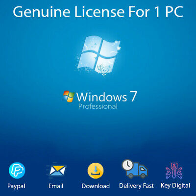 Windows 7 Pro Professional 32/64bit Activation License Genuine