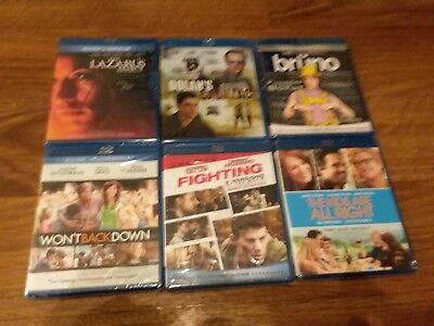 lot of 18 brand new sealed bluray dvd movies