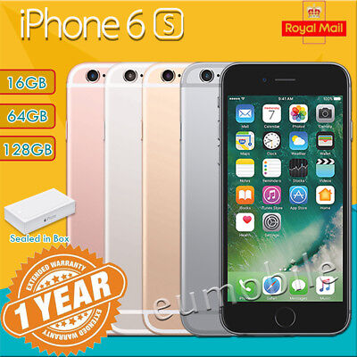 New Apple iPhone 6s 16GB 64GB 128GB Unlocked Mobile Smartphone Sealed In Box