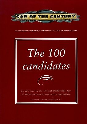 Book Car of the century, the 100 candidates, hardcover, 1998
