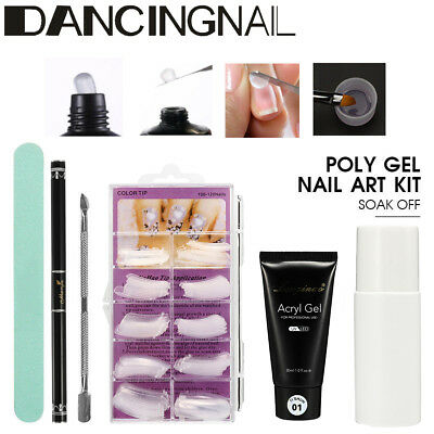 Nails Kit Sets For Nail Tips Poly Extension Gel Camouflage UV LED Gel Acrylic