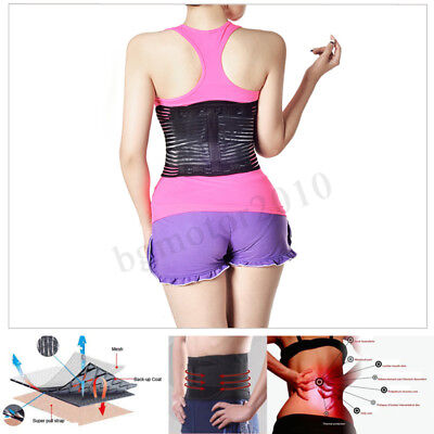 140b9021e3b Medical Lumbar Back Support Belt Lower Pain Relief Adjustable Double Pull  Brace