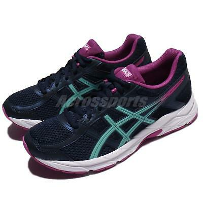 ASICS GEL CONTEND 4 Black White Women Running Training Shoes