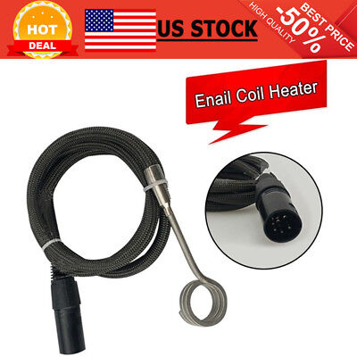 ENAIL COIL HEATER 120v 100w 20mm 5 Pin XLR Male Plug with K Thermocouple