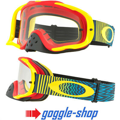 Oakley Crowbar Motocross Mx Enduro Motorrad Brille - Shockwave Ryb / Klarglas