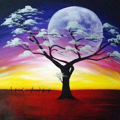 ZWPT167  modern landscape tree 100% hand-painted oil painting home art on Canvas