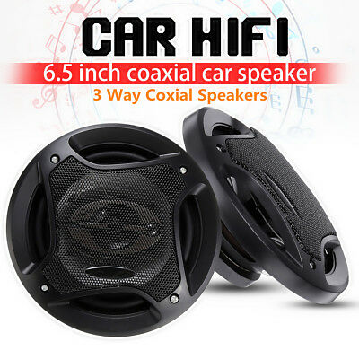"6.5"" Inch 400W Car 3-way Coaxial Speakers Systems w/ Subwoofer HIFI Audio Stereo"