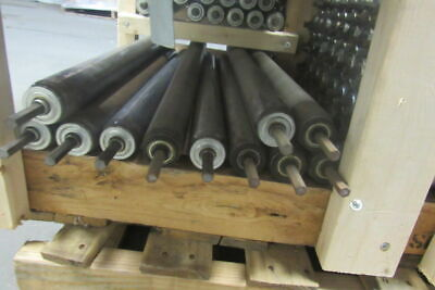 """1-7/8"""" OD x 25"""" Gravity Conveyor Roller Extra Long 7/16"""" Hex Axle Lot Of 11"""
