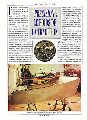 Side Car Precision / 1991 Article Presse Reportage Magazine Coupure