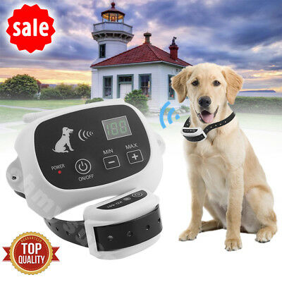 Wireless Electric Dog Fence Pet Control Collar Containment System Fencing 1-2-3