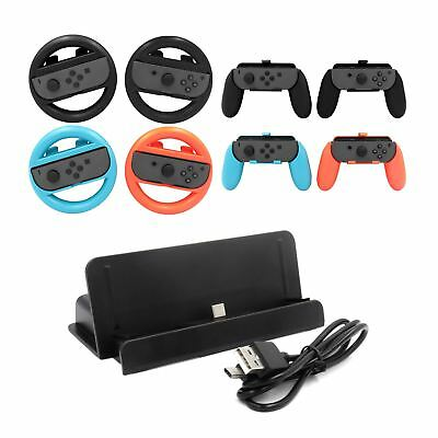 10pc Wheel Controller Stand for Nintendo Switch Accessories Joy Con Bundle