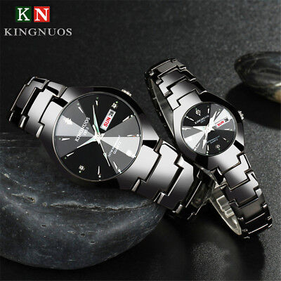 Fashion Waterproof Stainless Steel Crystal Quartz Wrist Watch Date Week Hours