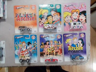 2013 Hot Wheels Pop Culture Archie Comics Set Of 6 In Package Bronco Van Blazer