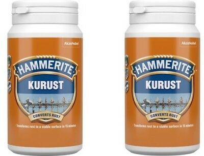 2x Hammerite Kurust One Coat Rust Remover & Converter Treatment 250mL