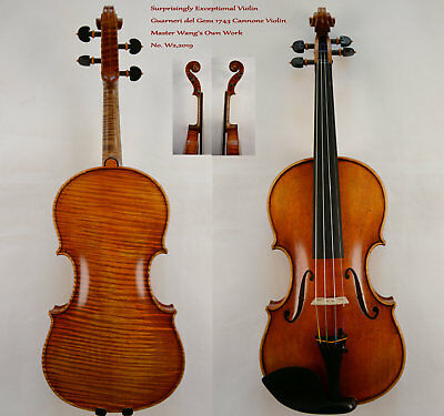 Proud Violin Guarneri del Gesu 1743 Cannone Violin Master Wang's own Work  No.W2
