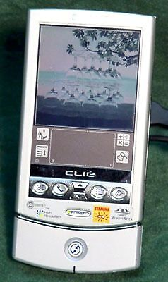 Sony PEG-N610C Clie Color LCD Handheld PDA Unit 8MB SILVER movies expansion slot
