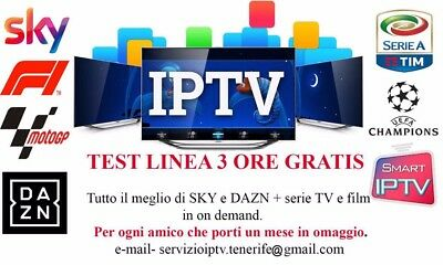 iptv italia 15000+ canali - Full smart tv - test gratuiti 1 ora