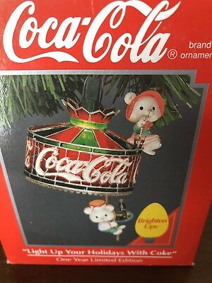 ENESCO CHRISTMAS ORNAMENTS Coca Cola Light Up Your Holidays With Coke