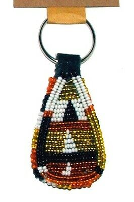 "South African Beaded Teardrop Keychain 2.5"" Contemporary Color FREE SHIPPING L08"
