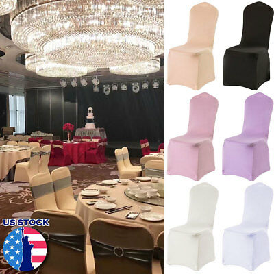 20PCS Chair Covers Spandex Wedding Banquet Anniversary Party Seat Cover Decor