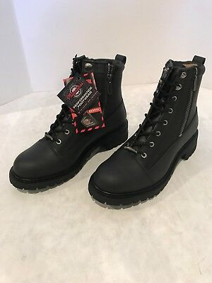 831213255e03c Milwaukee Motorcycle Clothing Co. Accelerator Leather Men s Size 10.5 EE  Boots